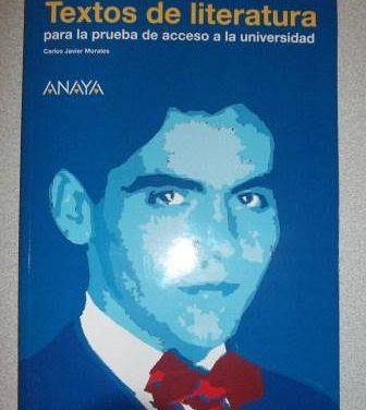 Textos de literatura para la Prueba de Acceso a la Universidad